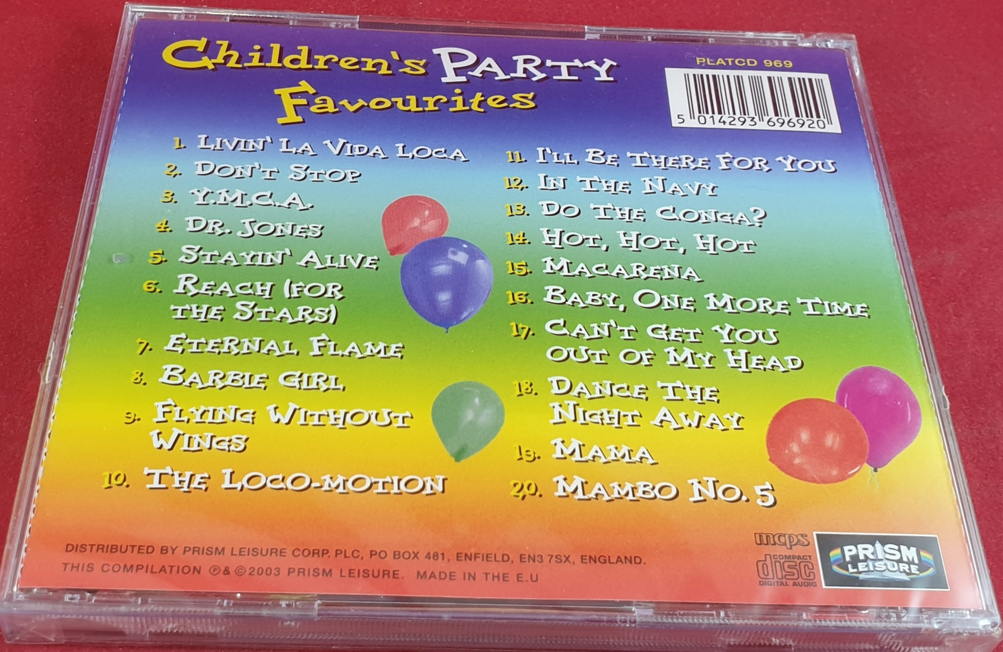 Brand New and Sealed Children's Party Favourites Audio CD – Retro