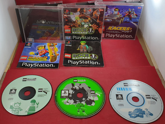Lego Island 2, Rock Raiders & Racers Sony Playstation 1 (PS1) Game Bundle
