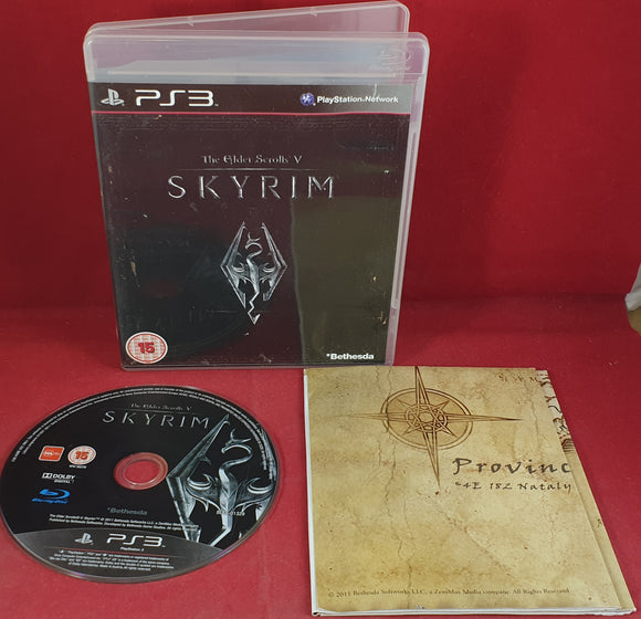 The Elder Scrolls V Skyrim with Map Sony Playstation 3 (PS3) Game