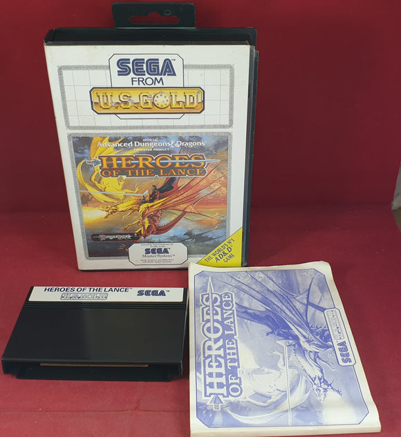 Heroes of the Lance Sega Master System Game