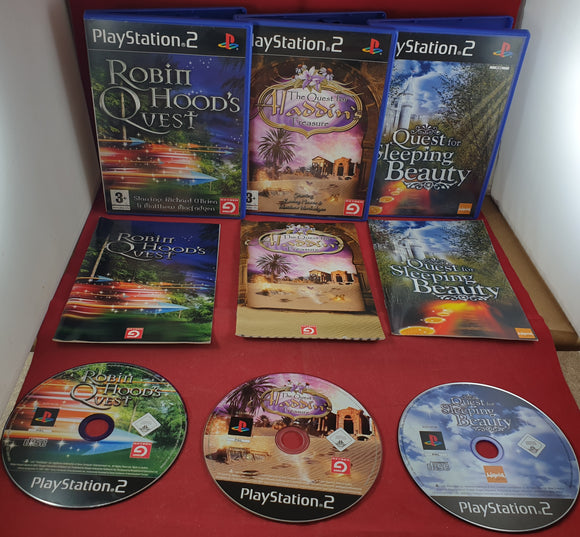Quest for Sleeping Beauty, Robin Hood & Aladdin Sony PlayStation 2 (PS2) Game Bundle