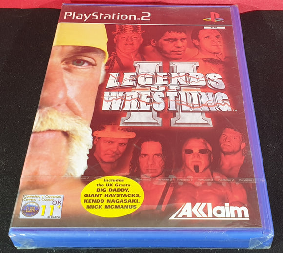 Brand New and Sealed Legends of Wrestling II Sony Playstation 2 (PS2) Game