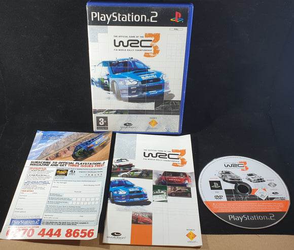 WRC 3 FIA World Championship Rally Sony Playstation 2 (PS2) Game
