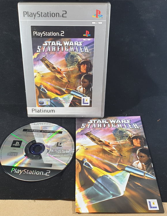 Star Wars Starfighter Platinum Sony Playstation 2 (PS2) Game