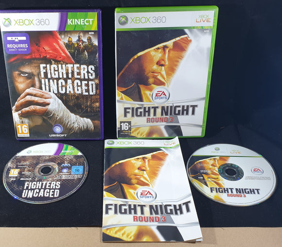 Fighters Uncaged & Fight Night Round 3 Microsoft Xbox 360 Game Bundle