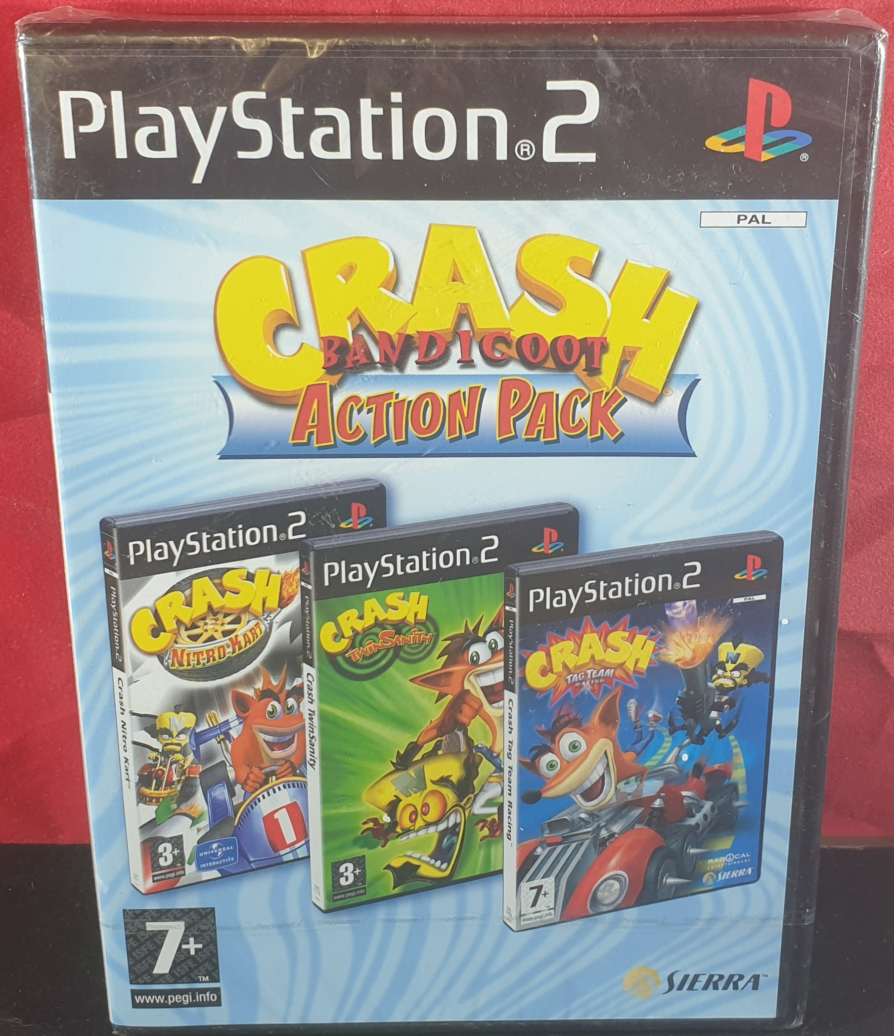 Brand New and Sealed Crash Bandicoot Action Pack Sony Playstation 2