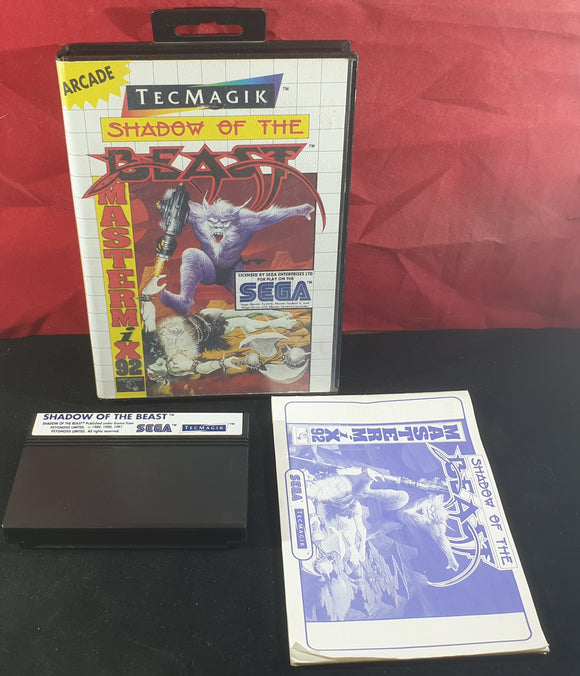 Shadow of the Beast Sega Master System Game