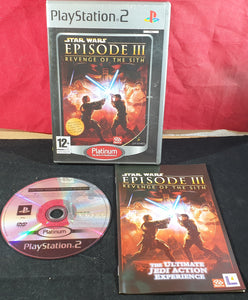 Star Wars Episode III Revenge of the Sith Platinum Sony Playstation 2 (PS2) Game