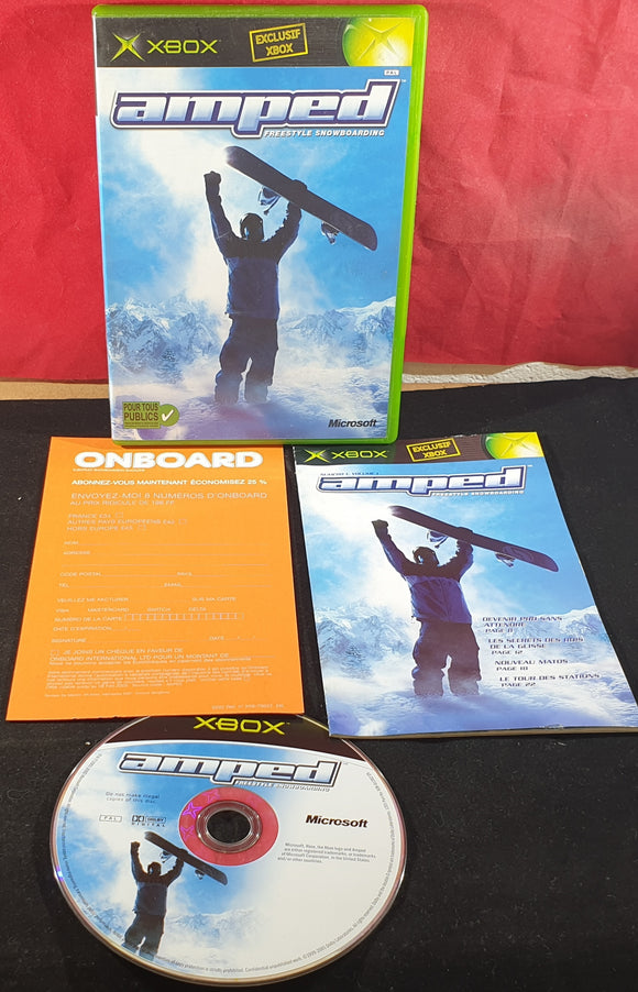 Amped Freestyle Snowboarding Microsoft Xbox Game (French Manual & Inlay)