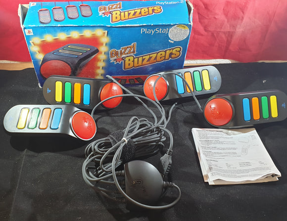 Boxed Buzz Controllers with Mega Quiz & Monster Rumble Game and Accessory