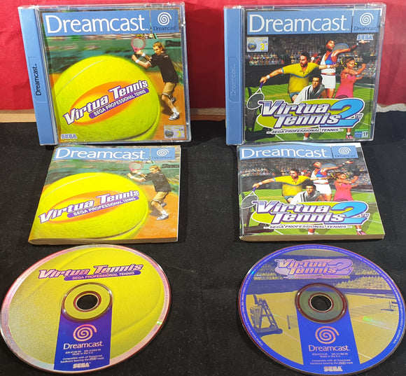 Virtua Tennis 1 & 2 Sega Dreamcast Game Bundle