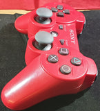 Official Red Sony Playstation 3 (PS3) Controller with Charging Cable Accessory