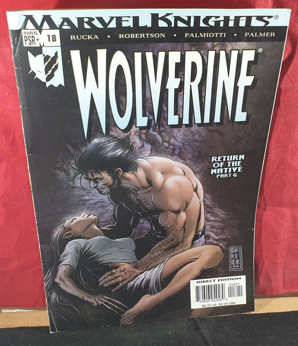 Marvel Knights Wolverine Return of the Native part 6 Comic Book