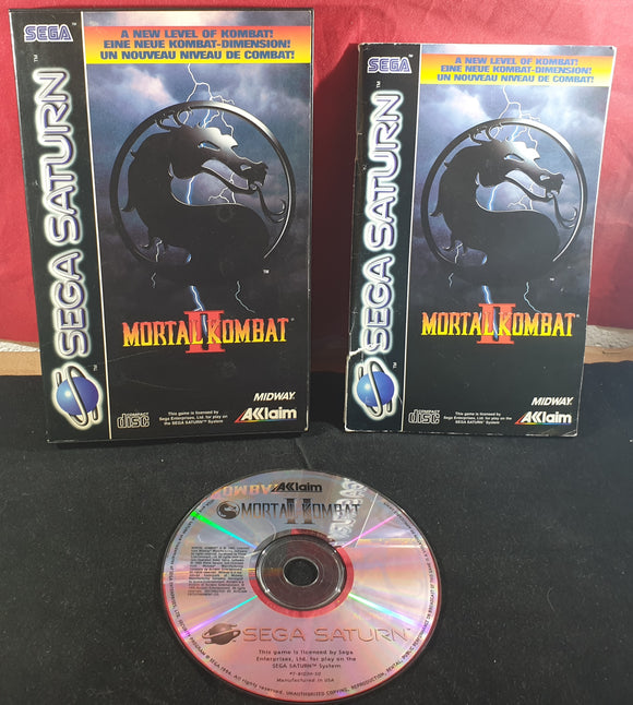 Mortal Kombat II Sega Saturn RARE Game