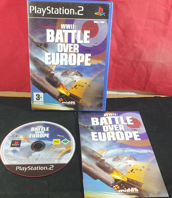 WWII Battle Over Europe Sony Playstation 2 (PS2) Game