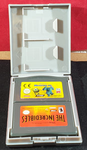 Monsters Inc & Incredibles Cartridge Only Nintendo Game Boy Advance Game Bundle