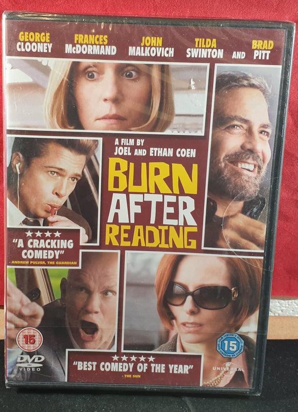 Brand New and Sealed Burn After Reading DVD
