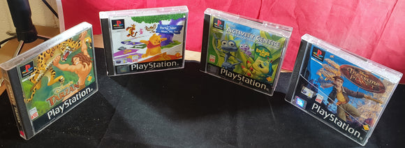 Disney X 4 Black Label Sony Playstation 1 (PS1) Game Bundle