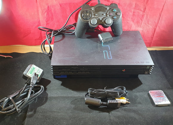 Sony Playstation 2 (PS2) SCPH 50003 Black Console with Unofficial Controller & 1MB Memory Card