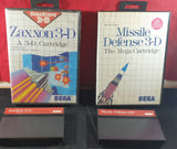Zaxxon 3-D & Missile Defense 3-D Sega Master System Game Bundle