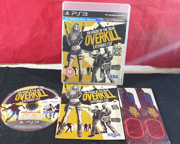 House of the Dead Overkill Extended Cut with Brand New 3D Glasses Sony Playstation 3 (PS3) Game