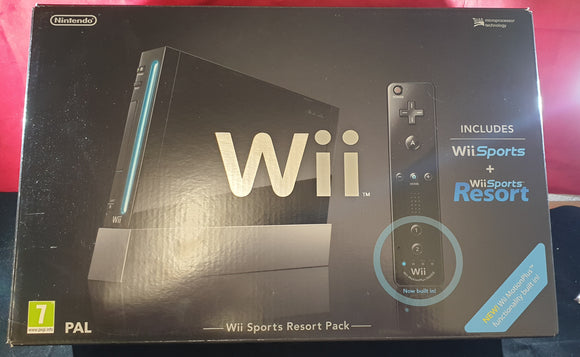 Boxed Nintendo Wii Black Console with MotionPlus, Wii Sports & Wii Sports Resort