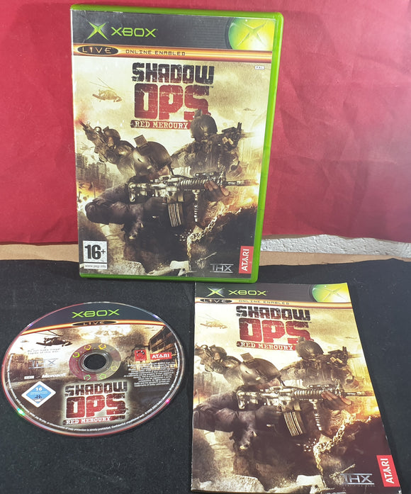 Shadow Ops Red Mercury Microsoft Xbox Game