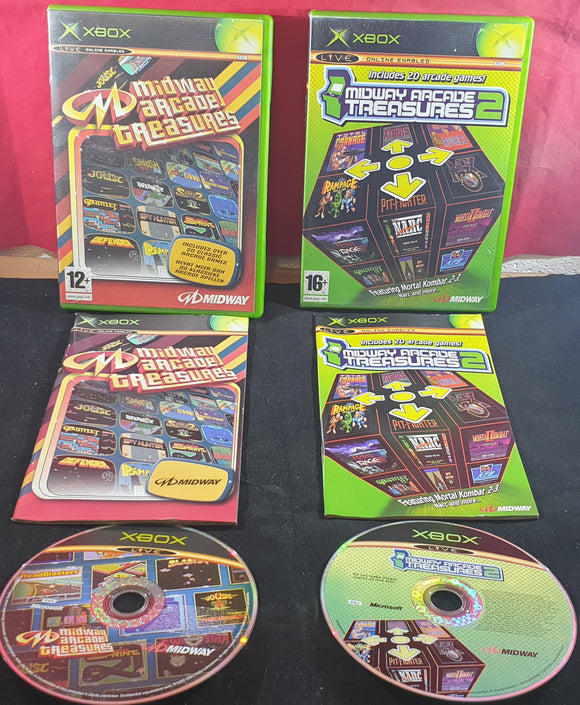 Midway Arcade Treasures 1 & 2 Microsoft Xbox Game Bundle