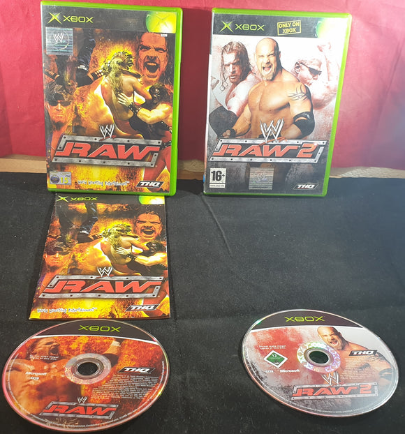 WWE Raw 1 & 2 Microsoft Xbox Game Bundle