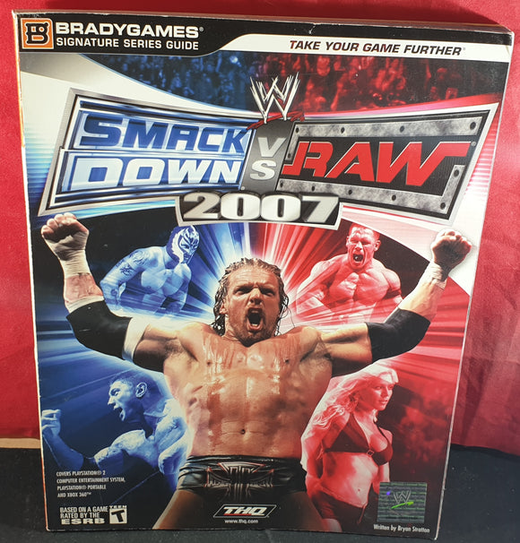 WWE Smackdown Vs Raw 2007 Official Strategy Guide Book
