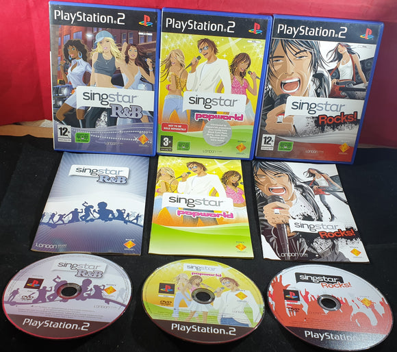 SingStar R&B, Rocks & Popworld Sony Playstation 2 (PS2) Game Bundle