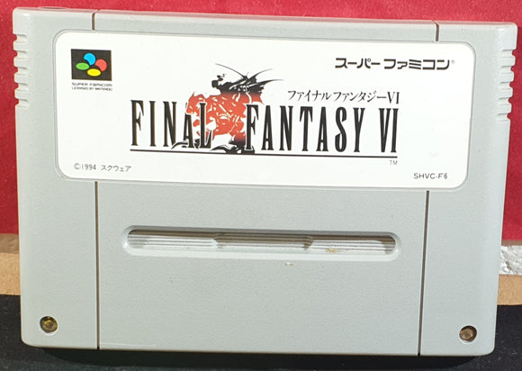 Final Fantasy VI Cartridge Only Super Nintendo Entertainment System (SNES) Game NTSC-J Japanese