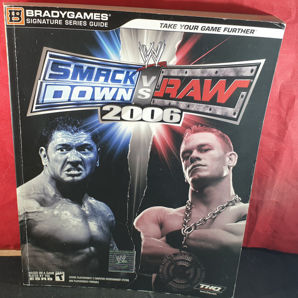 WWE Smackdown Vs Raw 2006 Official Strategy Guide Book