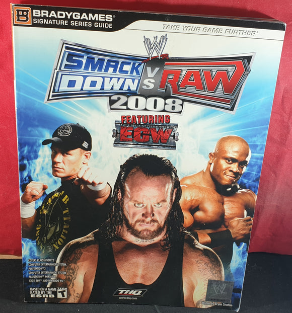 WWE Smackdown Vs Raw 2008 Official Strategy Guide Book
