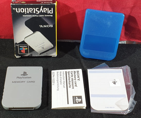 Boxed Official Sony Playstation 1 Memory card (PS1) SCPH 1020 E Accessory