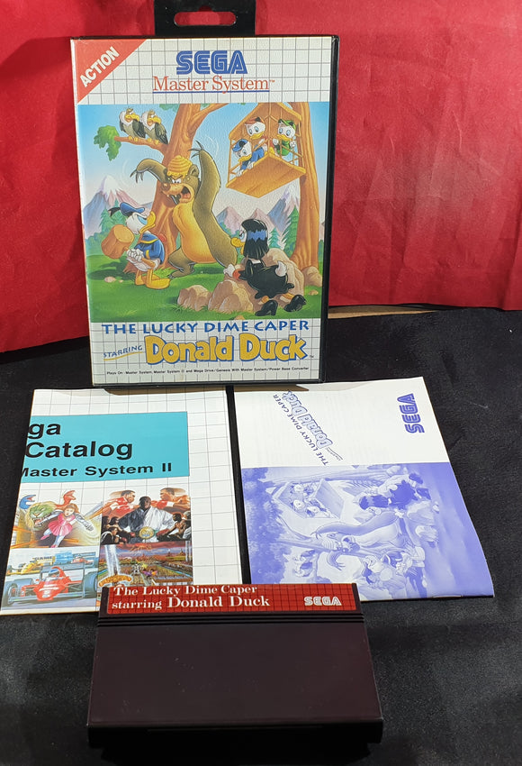 The Lucky Dime Caper Starring Donald Duck Sega Master System Game