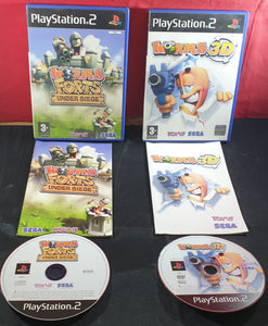 Worms 3D & Forts Under Siege Sony Playstation 2 (PS2) Game Bundle