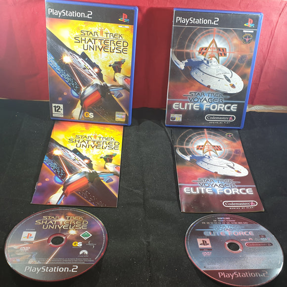 Star Trek Elite Force & Shattered Universe Sony Playstation 2 (PS2) Game Bundle