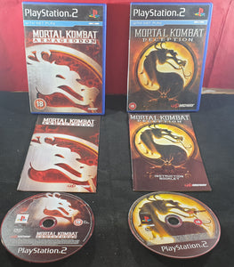 Mortal Kombat Armageddon & Deception Sony Playstation 2 (PS2) Game Bundle
