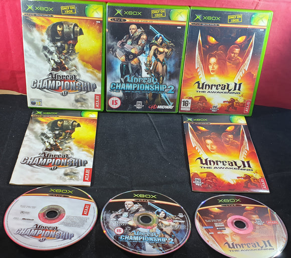 Unreal Championship 1, 2 & Unreal II the Awakening Microsoft Xbox Game Bundle