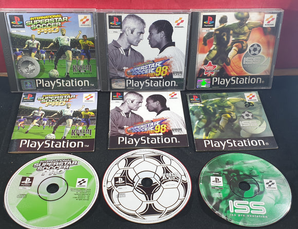 International Superstar Soccer Pro, ISS Pro 98 & ISS Evolution Sony Playstation 1 (PS1) Game Bundle