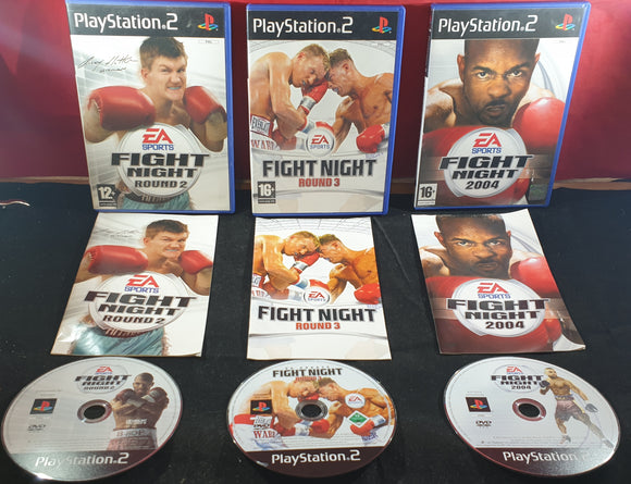 EA Sports Fight Night Round 2, 3 & 2004 Sony Playstation 2 (PS2) Game