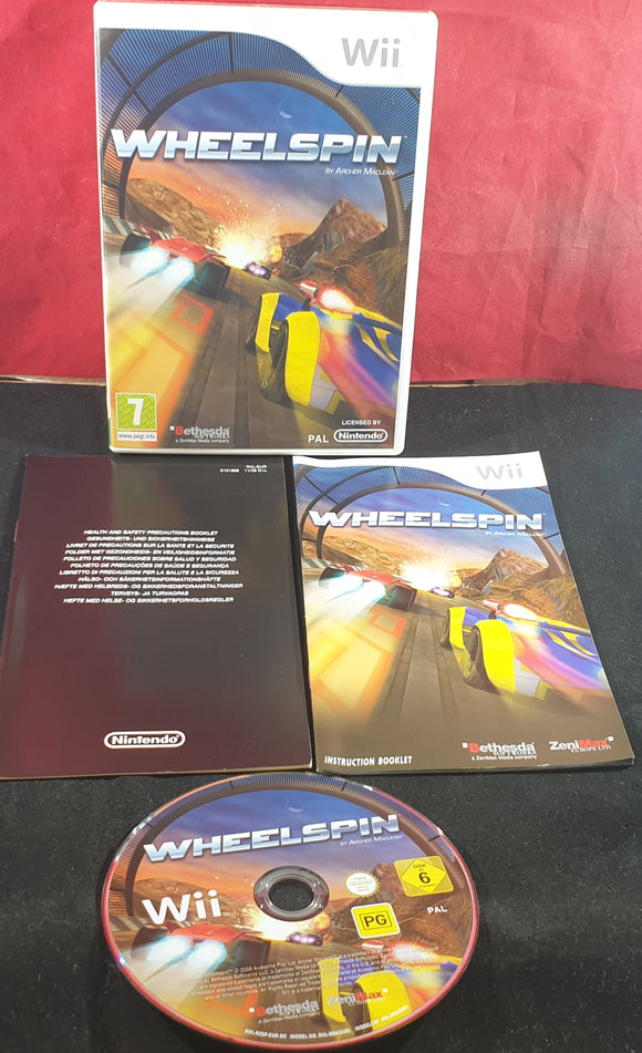 Wheelspin AKA Speed Zone Nintendo Wii Game