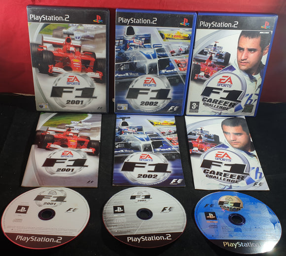 F1 2001, 2002 & Career Challenge Sony Playstation 2 (PS2) Game Bundle