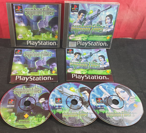Syphon Filter 1 & 2 Sony Playstation 1 (PS1) Game Bundle