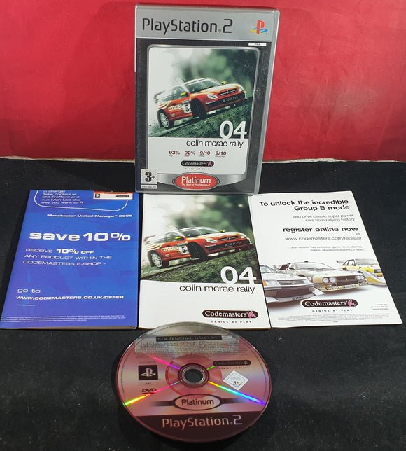Colin McRae Rally 04 Sony Playstation 2 (PS2) Game