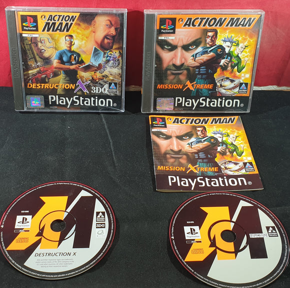 Action Man Mission Xtreme & Destruction X Sony Playstation 1 (PS1) Game Bundle