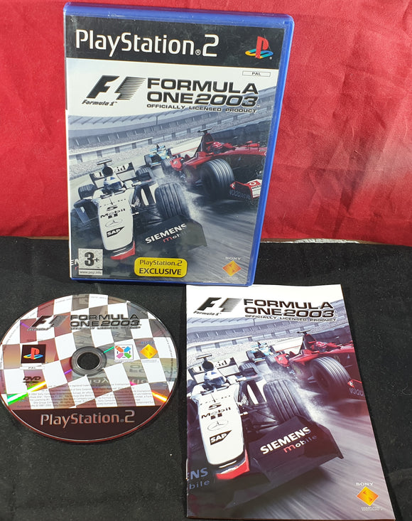 Formula One 2003 Sony Playstation 2 (PS2) Game