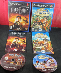 Harry Potter Goblet of Fire & Quidditch World Cup Sony Playstation 2 (PS2) Game Bundle