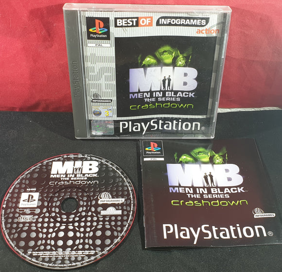 Men in Black Crashdown Sony Playstation 1 (PS1) Game